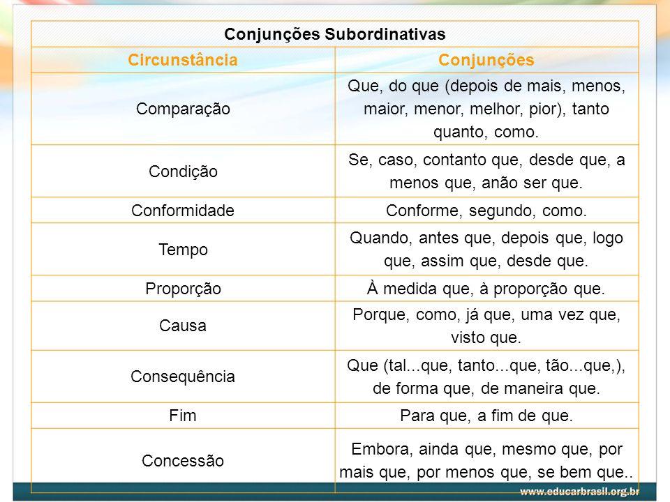 Conjunções Subordinativas