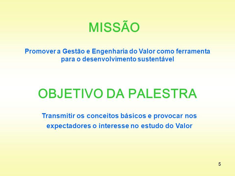 MISSÃO OBJETIVO DA PALESTRA