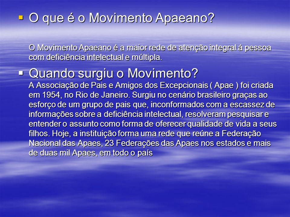 O que é o Movimento Apaeano