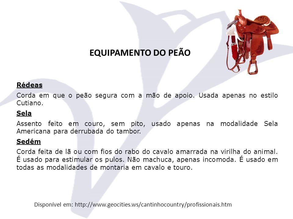 EQUIPAMENTO DO PEÃO Rédeas