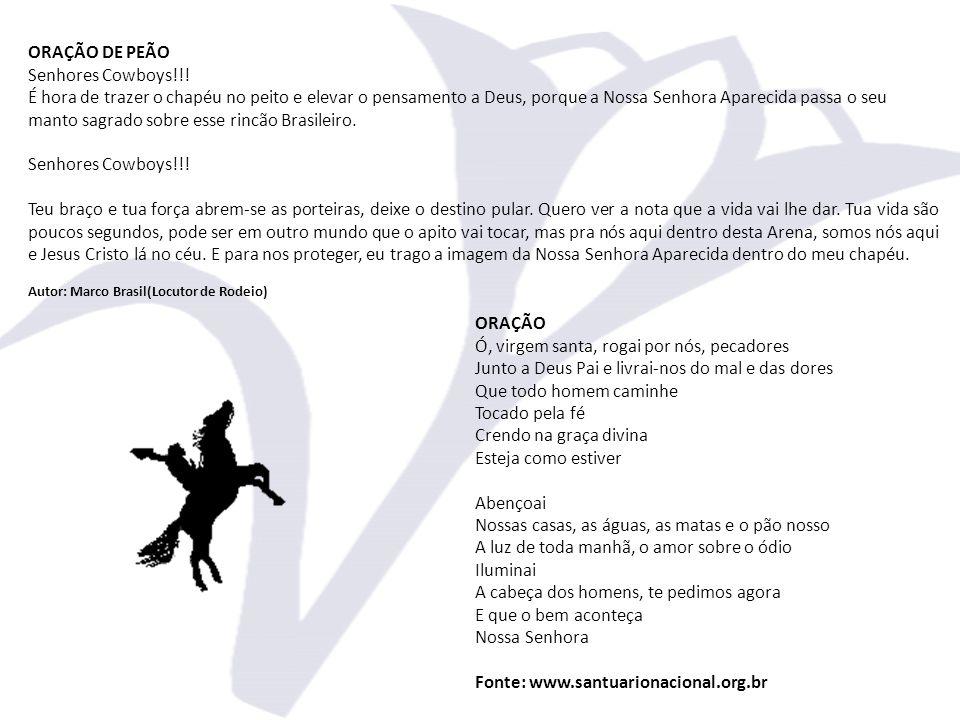 ORAÇÃO DE PEÃO Senhores Cowboys!!!