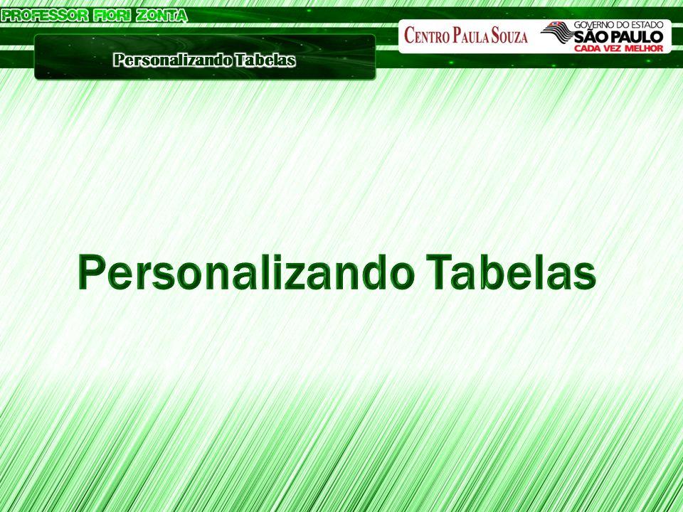 Personalizando Tabelas