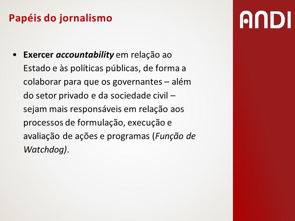 Papéis do jornalismo