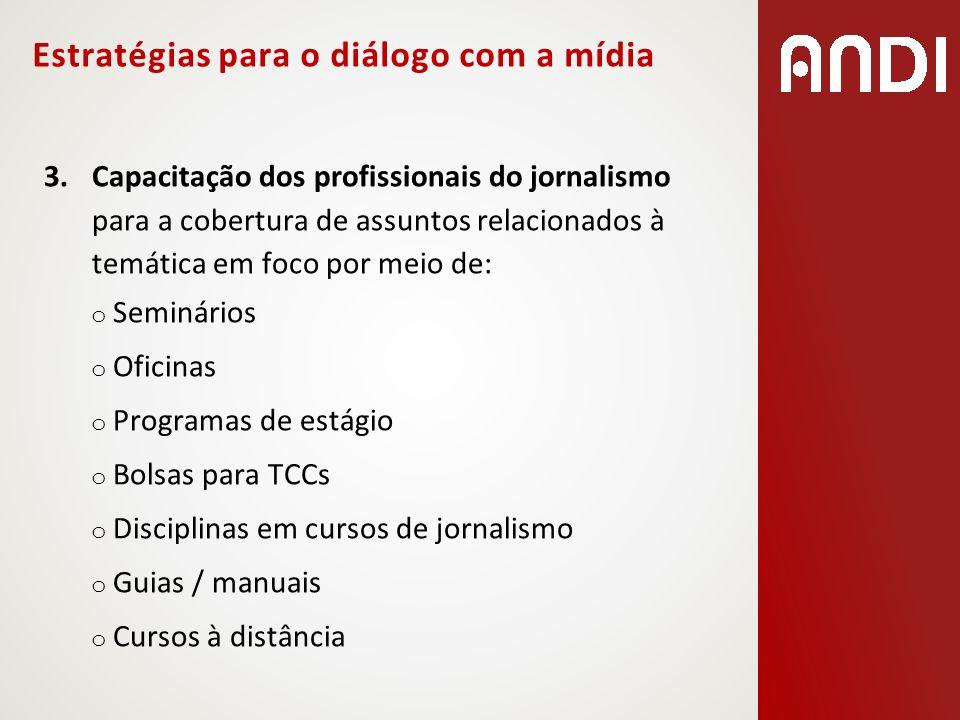 Estratégias para o diálogo com a mídia