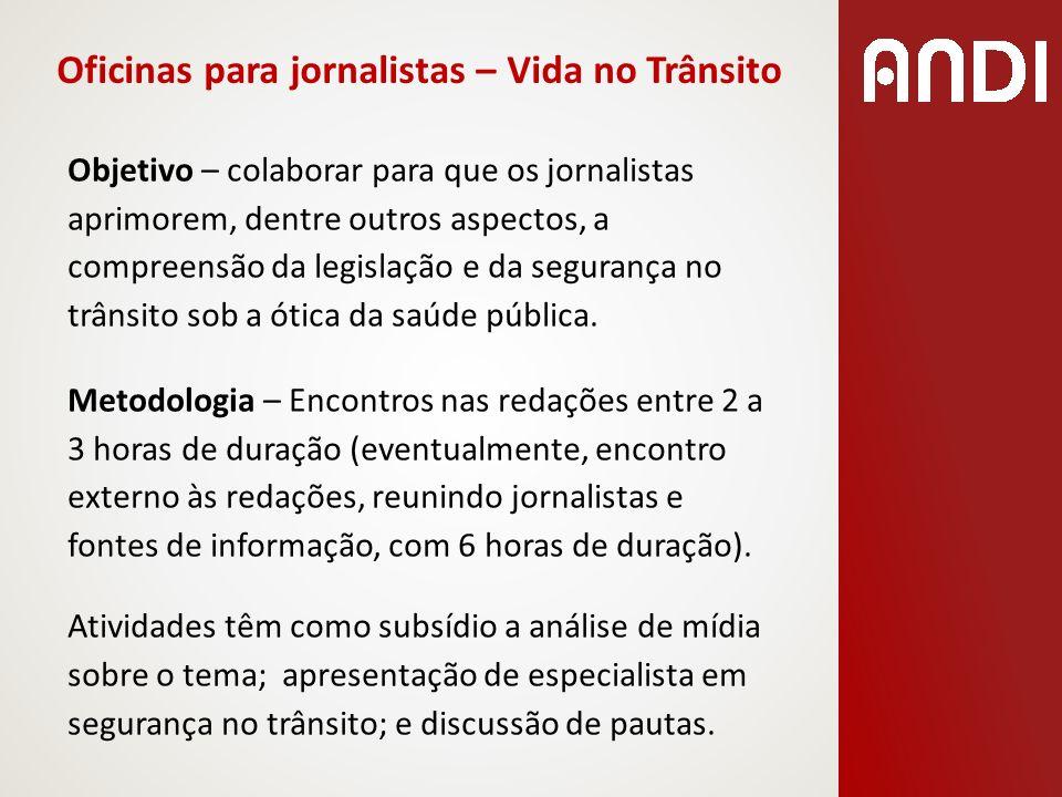Oficinas para jornalistas – Vida no Trânsito