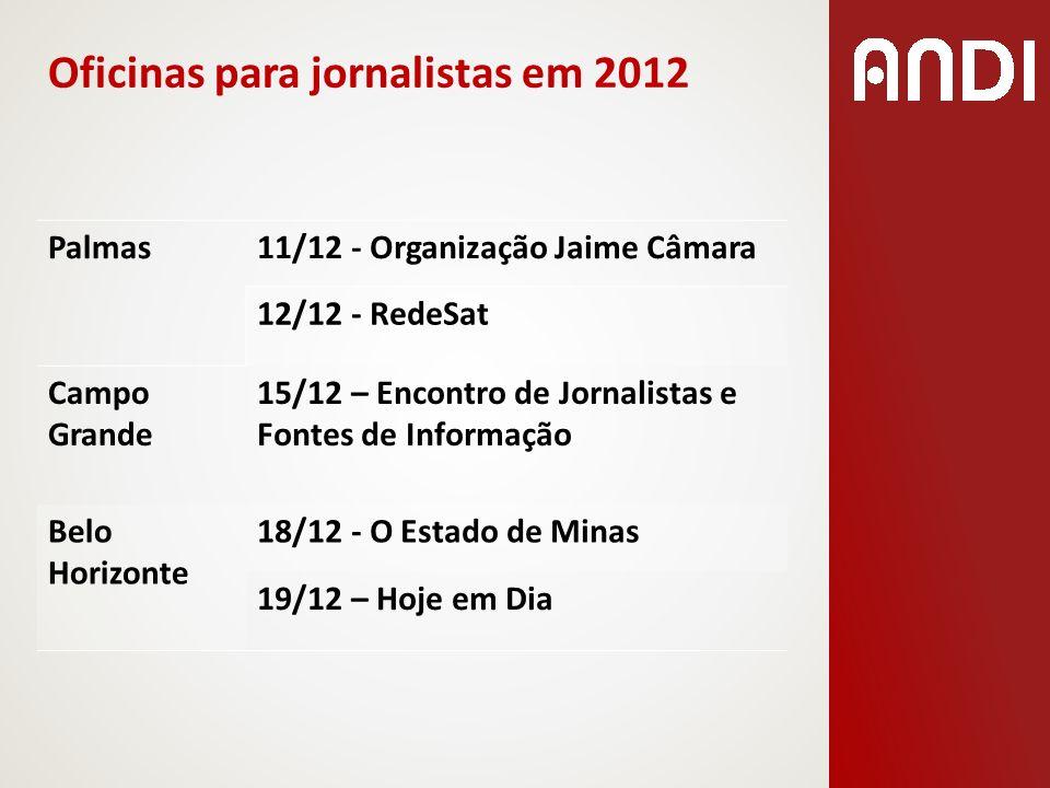Oficinas para jornalistas em 2012