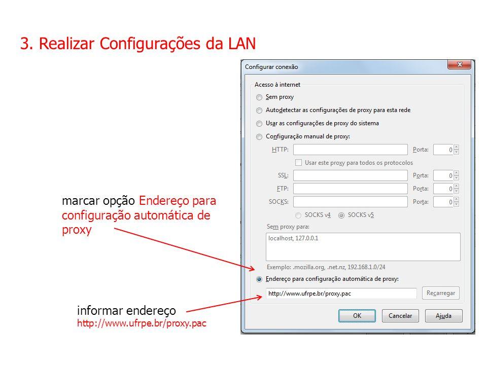 3. Realizar Configurações da LAN
