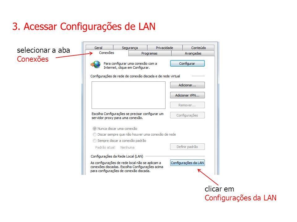 3. Acessar Configurações de LAN