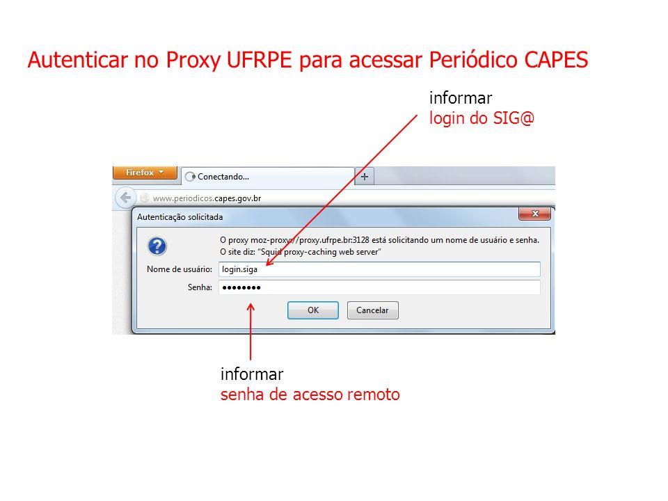 Autenticar no Proxy UFRPE para acessar Periódico CAPES