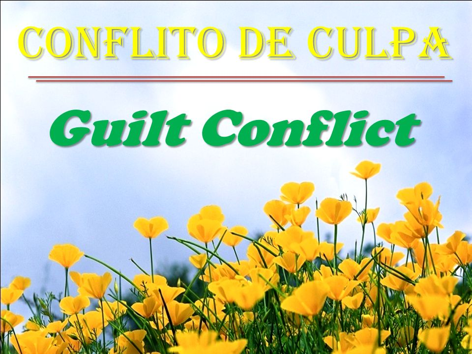 Conflito de Culpa Guilt Conflict
