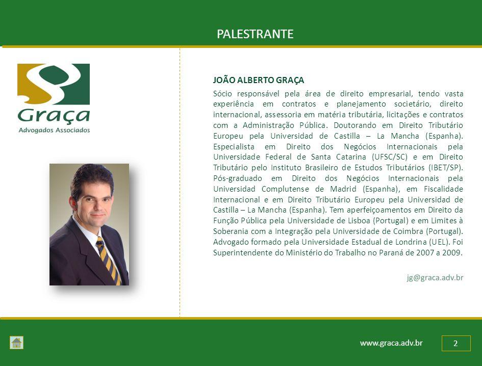 PALESTRANTE JOÃO ALBERTO GRAÇA