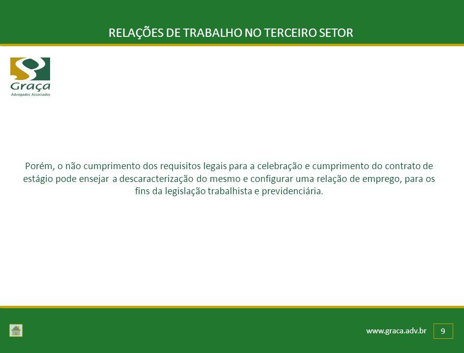 RELAÇÕES DE TRABALHO NO TERCEIRO SETOR