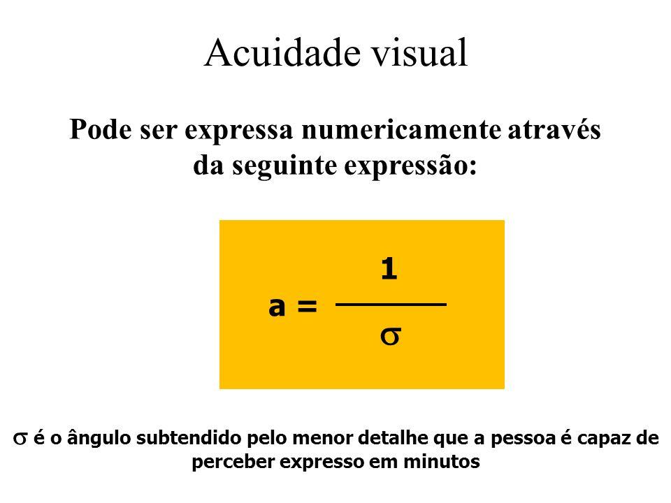 Pode ser expressa numericamente através da seguinte expressão: