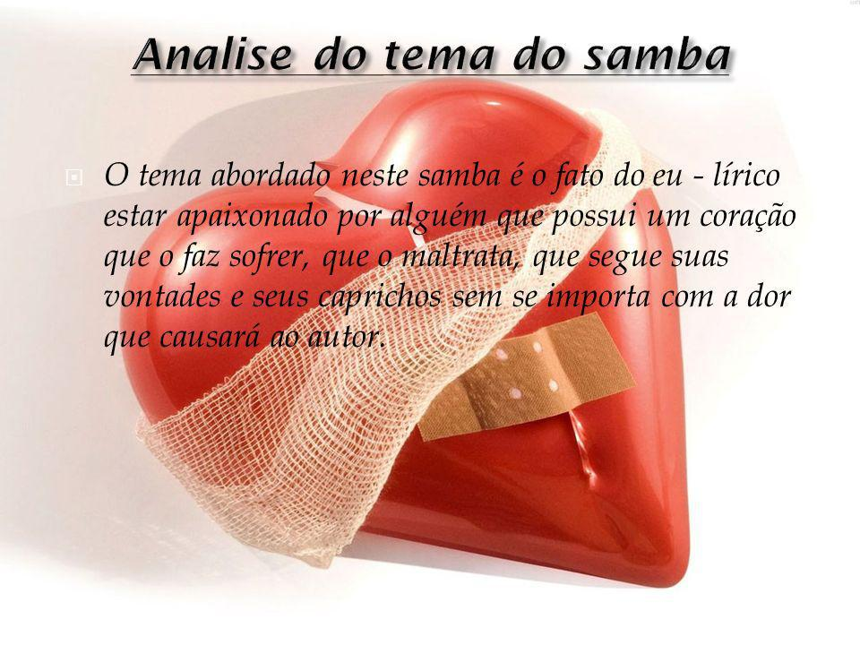 Analise do tema do samba