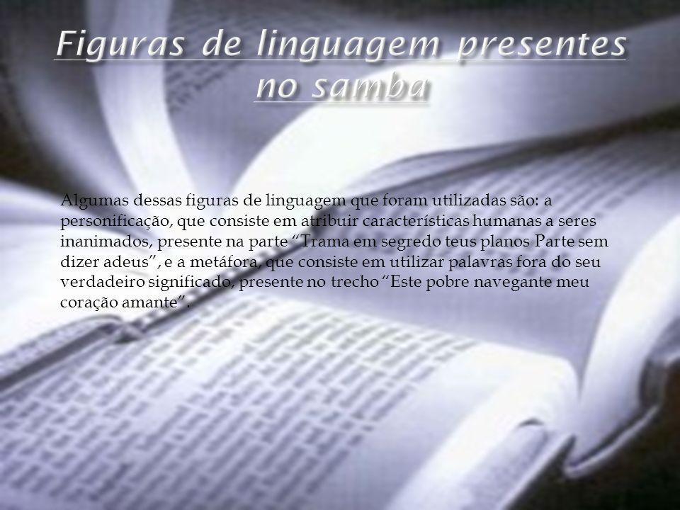 Figuras de linguagem presentes no samba