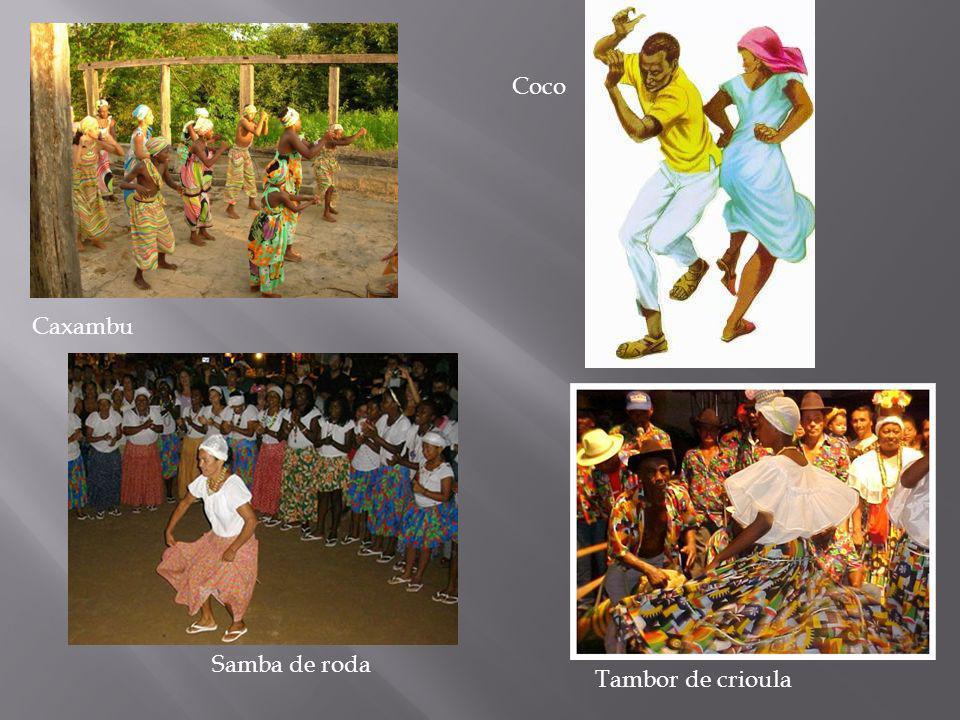 Coco Caxambu Samba de roda Tambor de crioula