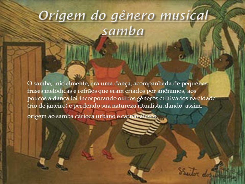 Origem do gênero musical samba