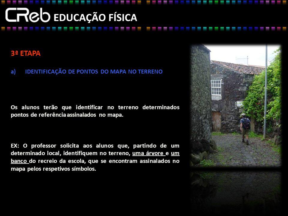 3ª ETAPA IDENTIFICAÇÃO DE PONTOS DO MAPA NO TERRENO