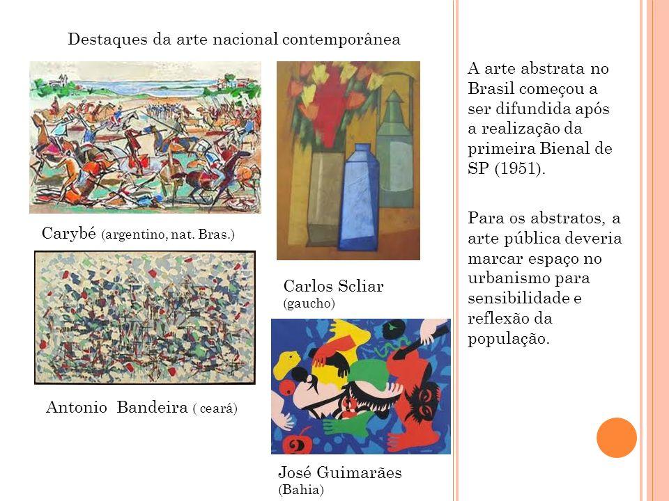 Destaques da arte nacional contemporânea