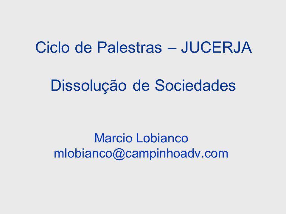 Ciclo de Palestras – JUCERJA Dissolução de Sociedades