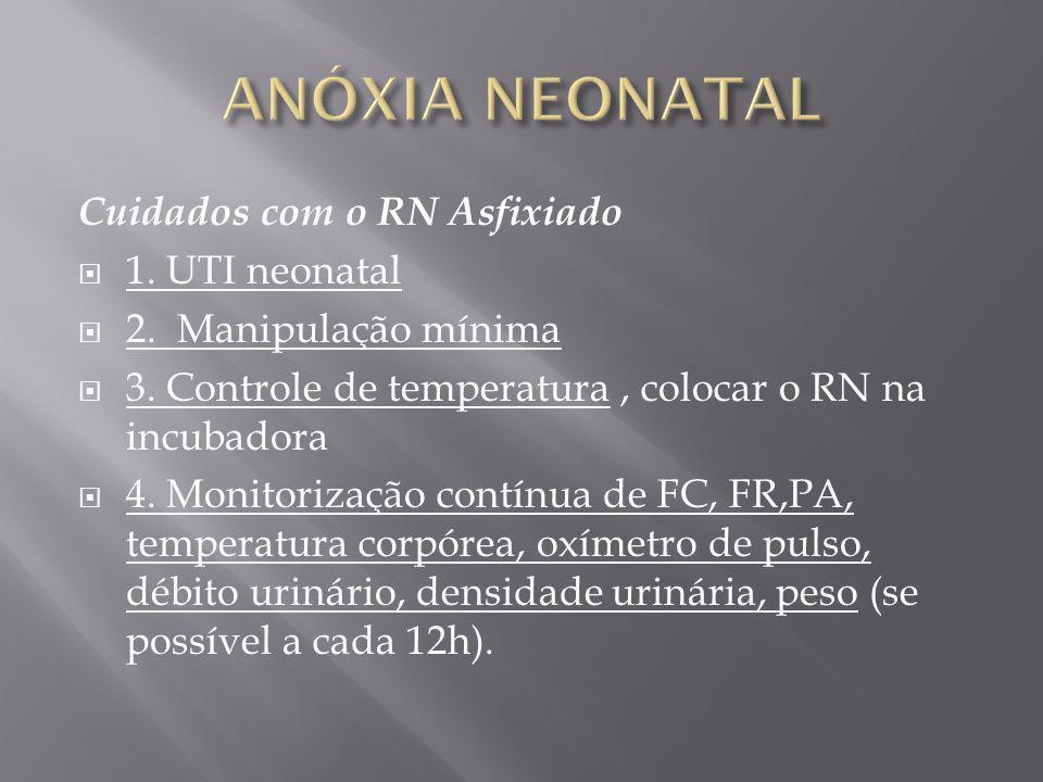 ANÓXIA NEONATAL Cuidados com o RN Asfixiado 1. UTI neonatal