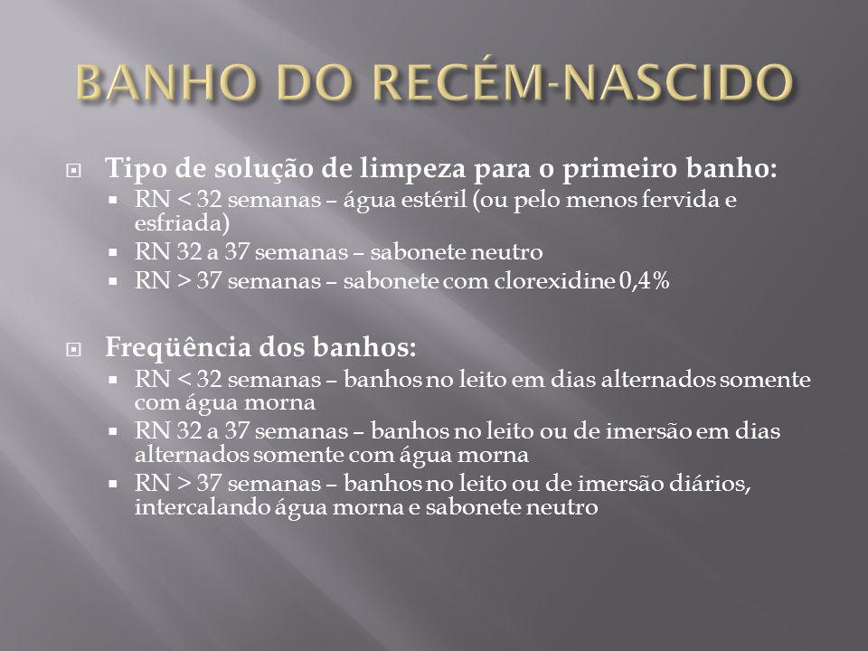 BANHO DO RECÉM-NASCIDO