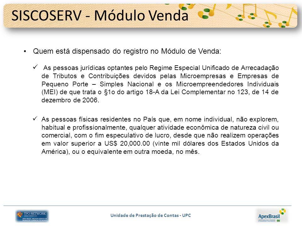 SISCOSERV - Módulo Venda