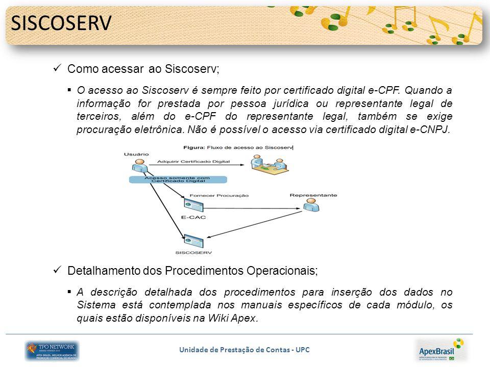 SISCOSERV Como acessar ao Siscoserv;