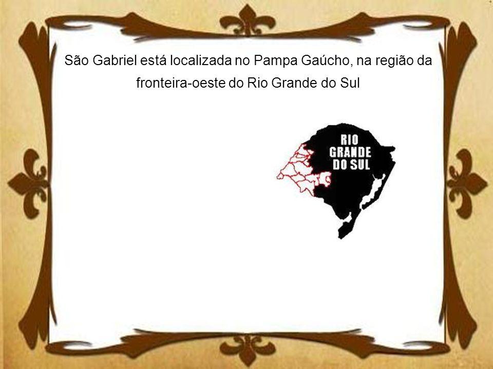 São Gabriel está localizada no Pampa Gaúcho, na região da fronteira-oeste do Rio Grande do Sul