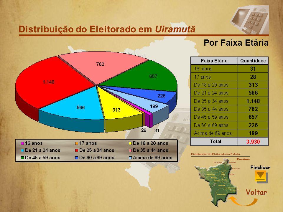 Distribuição do Eleitorado em Uiramutã
