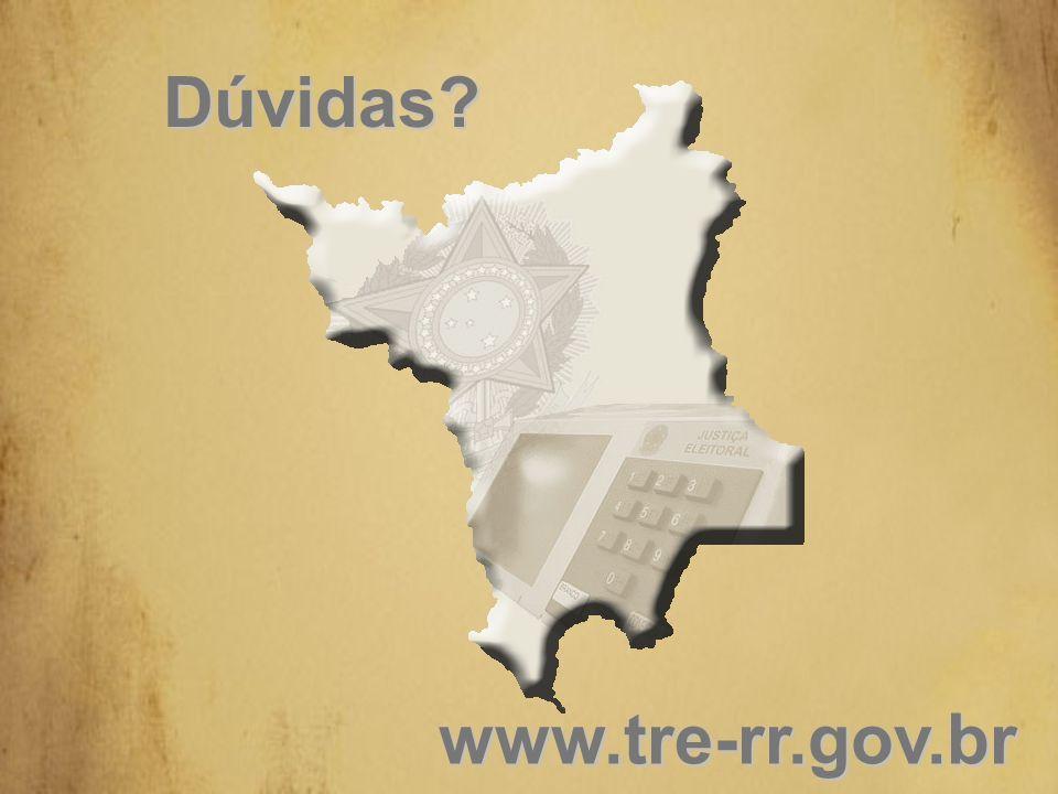 Dúvidas www.tre-rr.gov.br
