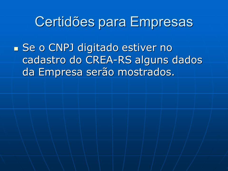 Certidões para Empresas
