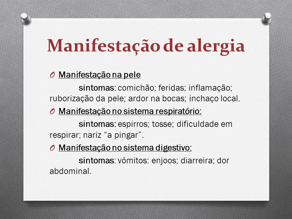 Manifestação de alergia