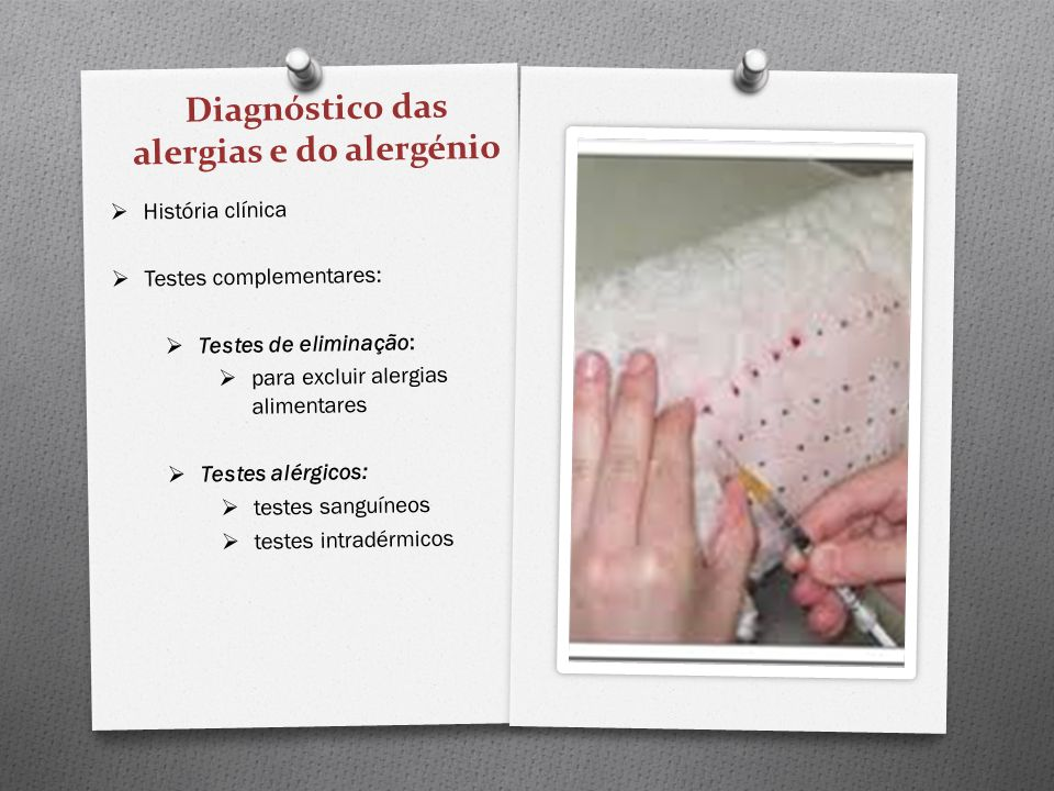 Diagnóstico das alergias e do alergénio
