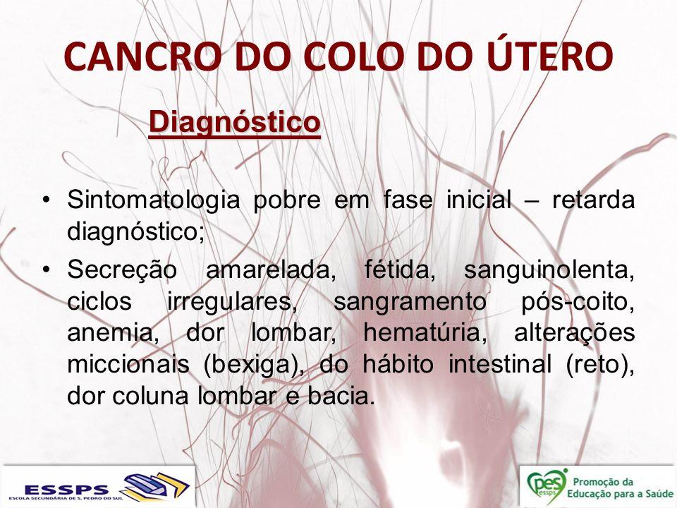 CANCRO DO COLO DO ÚTERO Diagnóstico