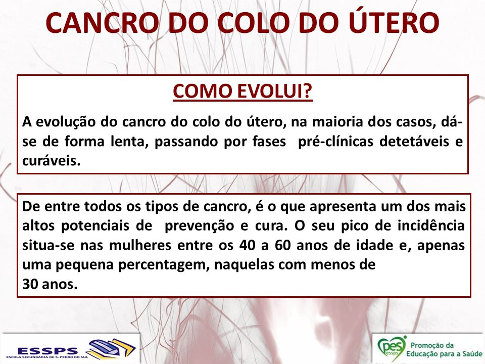 CANCRO DO COLO DO ÚTERO COMO EVOLUI