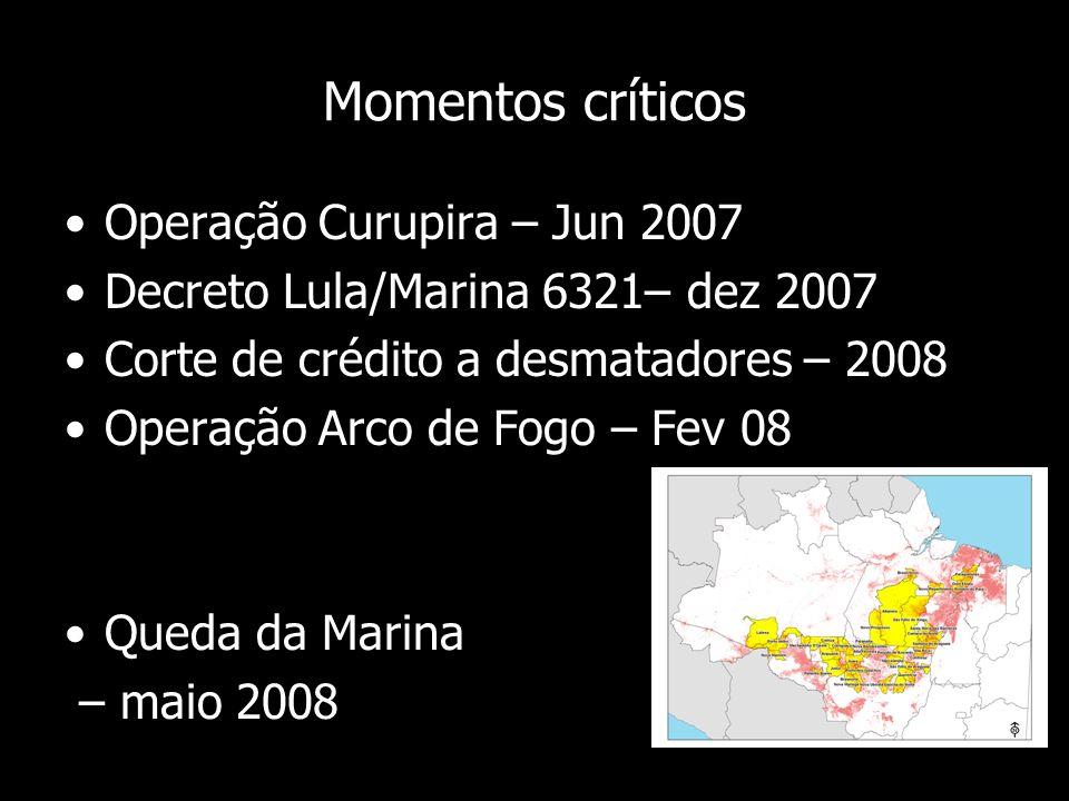 Momentos críticos Operação Curupira – Jun 2007