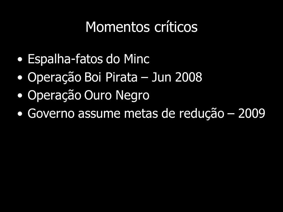 Momentos críticos Espalha-fatos do Minc Operação Boi Pirata – Jun 2008