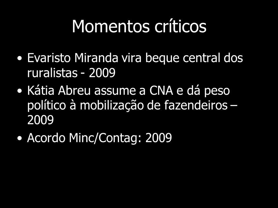 Momentos críticos Evaristo Miranda vira beque central dos ruralistas - 2009.
