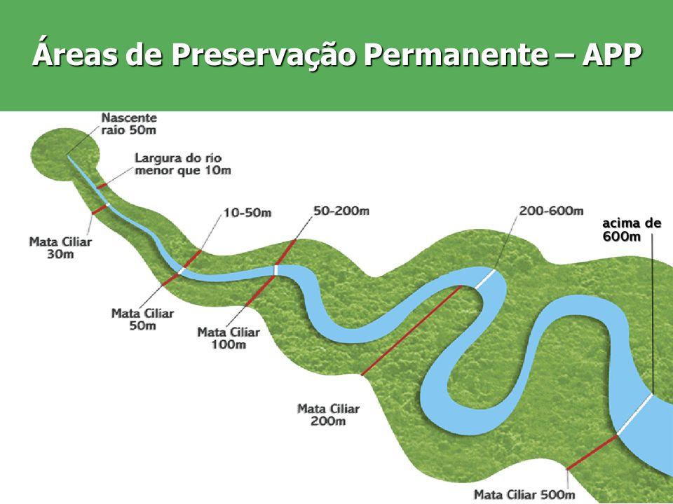 Áreas de Preservação Permanente – APP