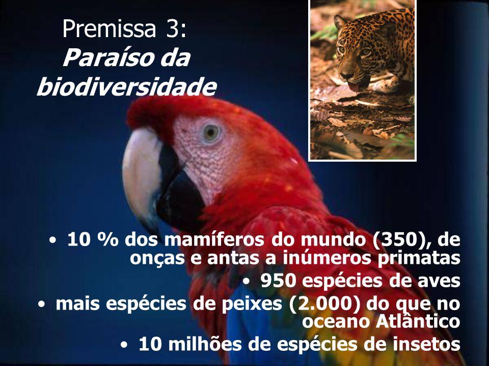 Premissa 3: Paraíso da biodiversidade