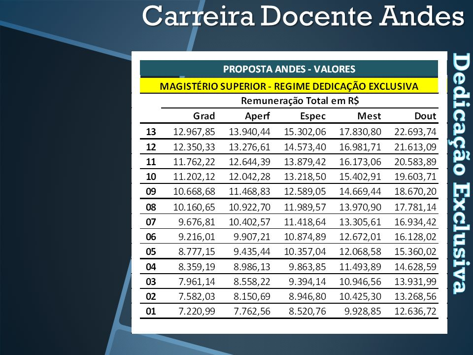 Carreira Docente Andes