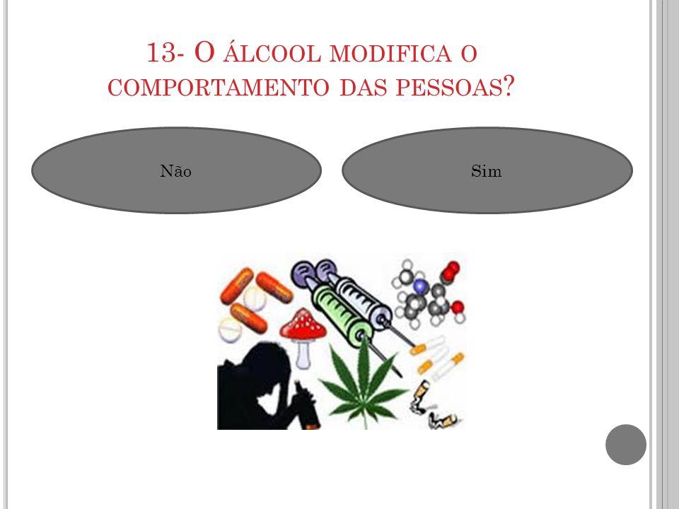 13- O álcool modifica o comportamento das pessoas