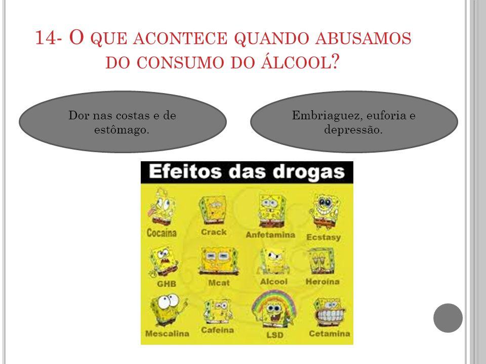 14- O que acontece quando abusamos do consumo do álcool