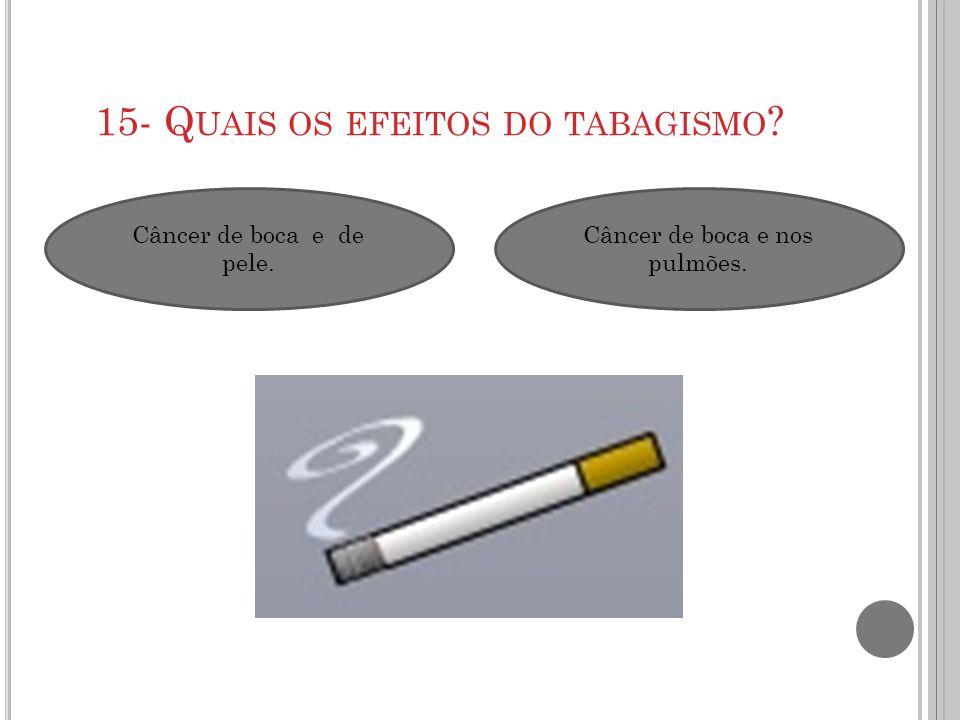 15- Quais os efeitos do tabagismo