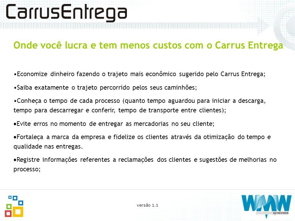 Onde você lucra e tem menos custos com o Carrus Entrega