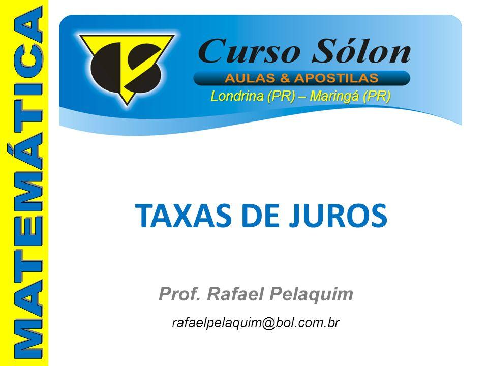 TAXAS DE JUROS MATEMÁTICA