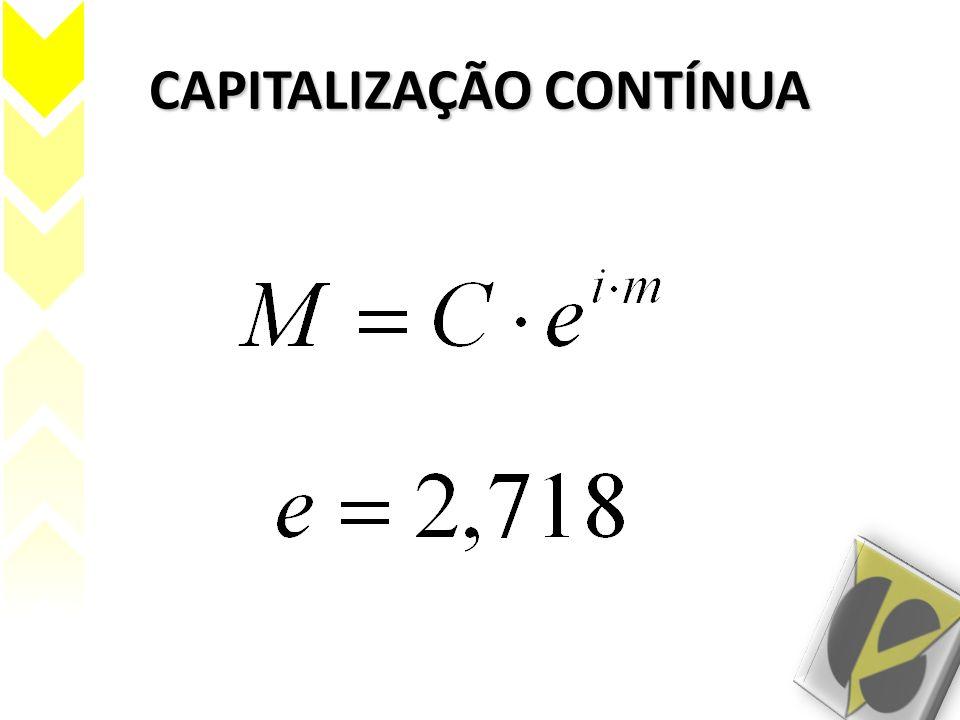 CAPITALIZAÇÃO CONTÍNUA