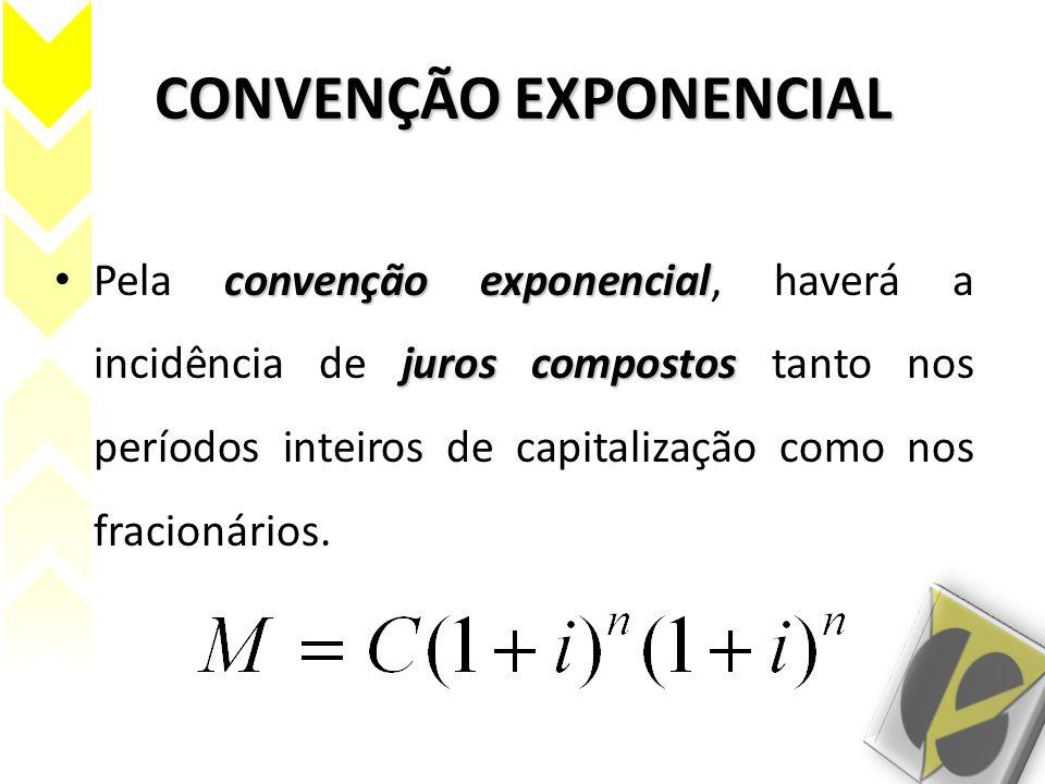 CONVENÇÃO EXPONENCIAL