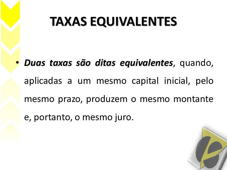 TAXAS EQUIVALENTES